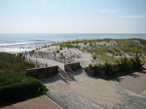 Direct view of beach from 2nd Floor Deck
