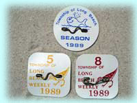 1989 Weekly Beach Badges