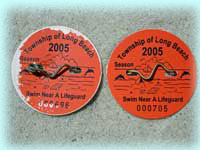 2005 Beach Badge