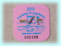 2010 Beach Badge