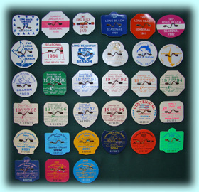 Entire Beach Badge Collection - Long Beach Township, NJ
