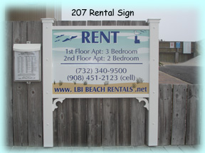 Our Rental Sign In Front Of 207