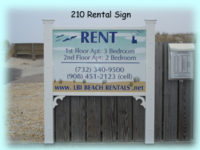 Our Rental Sign In Front Of 210