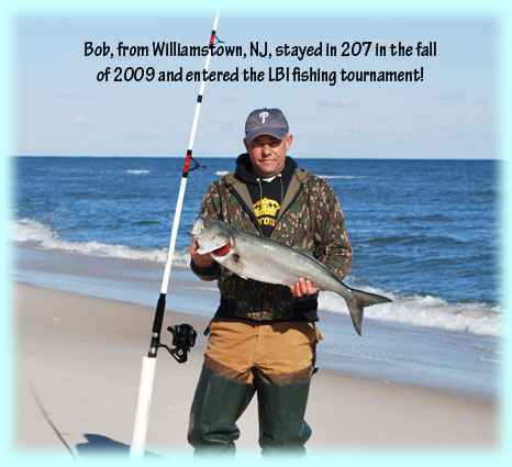 Our beach for Lbi surf fishing report