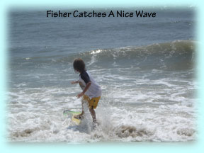Fisher Greene of Oviedo, Florida Catches The Wave He's Been Waiting For!