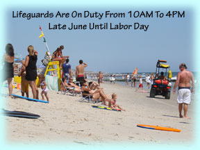 Lifeguards Are On Duty From 10AM to 4PM