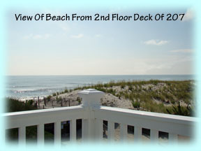 View Of Our Beach From 2nd Floor Of 207