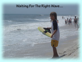 Fisher Greene of Oviedo, Florida Waits For Just The Right Wave!